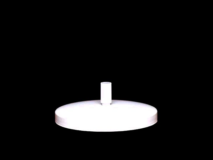 Lb112 6 Round Weighted Lamp Base